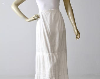Edwardian skirt, antique white petticoat
