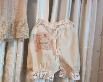 Muslin Bloomers, Child's Size 5-6, For Costume