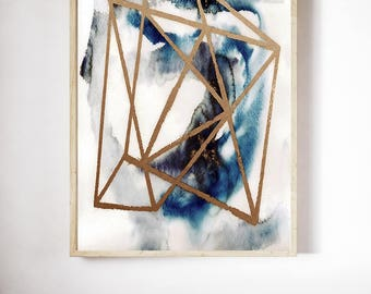 watercolor, Wall art, abstract, abstract art, geometric art, abstract painting, modern art, geometric, Danish art, Danish design
