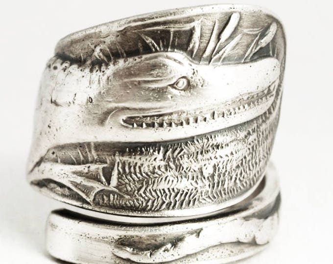 Crocodile Ring, Alligator Ring, Gator Ring, Spoon Ring Sterling Silver, Animal Ring, Reptile Jewelry, Gator Jewelry, Adjustable Size (7030)