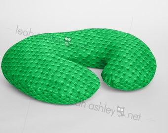 Boppy® Cover, Nursing Pillow Cover - Kelly Green MINKY Dot - BC1