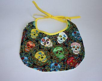 BABY BIB Day of the Dead Sugar Skulls