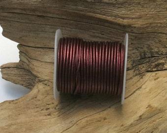 10 Meters of 1.5mm LEATHER Cord - Metallic Brown