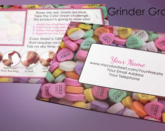 Color Street Personalized Valentine's Twosie Challenge Postcard 4x6 Digital Download, Nail Polish Strips