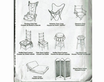 Chair Covers Pad Cushions Futon Cover Butterfly Stools Rocking Directors  Panel Screen Uncut Sewing Pattern Home