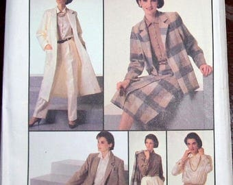 Vintage 1980s Sewing Pattern Simplicity 7033 Go Everywhere Wardrobe Separates Womens Misses Plus Size 18 20 Bust 40 42 Uncut Factory Folds