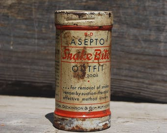 Vintage B-D Asepto Snake Bite Outfit with Contents