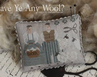 New! WITH THY NEEDLE Have You Any Wool? counted cross stitch patterns at thecottageneedle.com 2018 Nashville Market