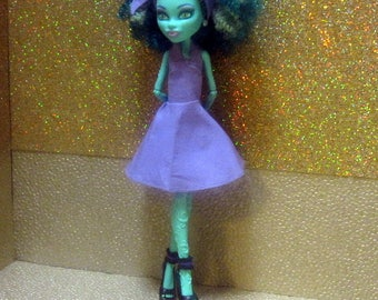 Monster High Doll Clothes - 50s Rockabilly Dress with headscarf! 2017-08-50s