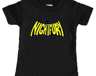INFANT TEE -- Na Na Na Na Nightfury! Toothless Batman Logo Nightfury - How To Train Your Dragon 2 Top
