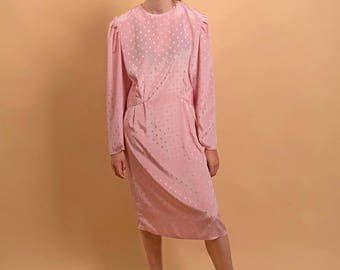 Minimalist Silk Dress / 80s Sack Dress / Silk Oversized Dress / Powder Pink Silk Dress Δ size: M