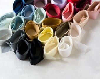 Silk Ribbon Styling Kit - Simple Palette / Pale Palette / Rosy Palette / Breezy Palette - Wooden Spools Available