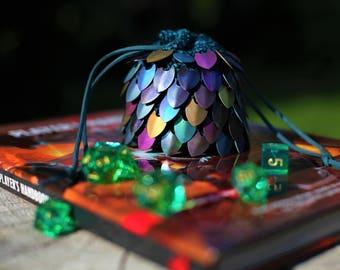 Crochet Dragon Scale Dice Bag