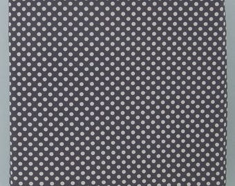 GRAY DOTS cotton single jersey