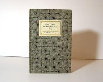 Paul Valery, Die Krise des Geiste, German Translation of Crisis of the Spirit, Handsome Midcentury Modern Binding  from Insel Bucherei 642