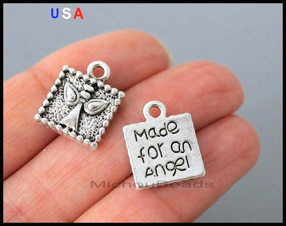 Instant Messaging Angel : Made for an angel charm pendants mm square silver