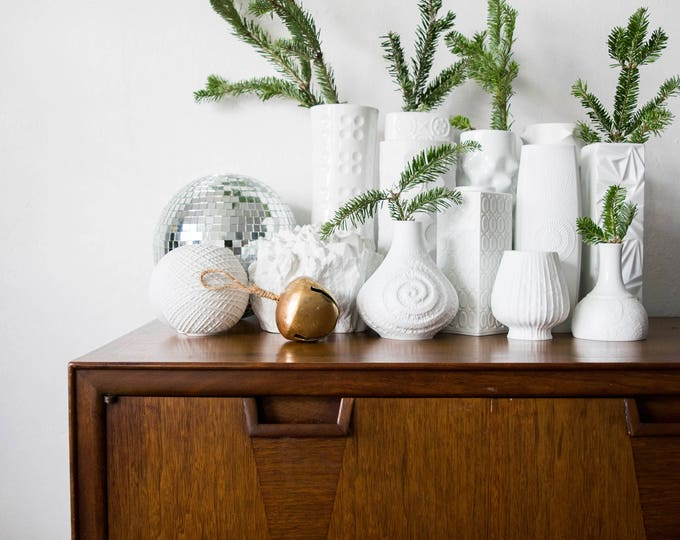 Mid Century Matte White Porcelain Vase // AK Kaiser West Germany // Bohemian Home Decor