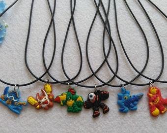 10 Skylanders Silicone  Necklaces