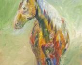 Palomino Horse - 5x7 Original Painting