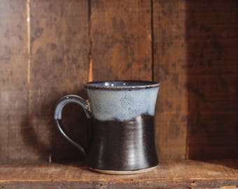 Mug in Midnight Surf by Village Pottery Prince Edward Island PEI