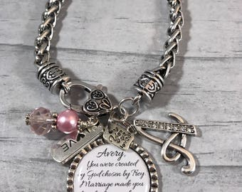 DAUGHTER in LAW Bracelet, Future Daughter in Law GIFT, Brides Gift, Bridal Shower Gift, Bride to be Gift, Gift from Mother In Law, Sons Wife
