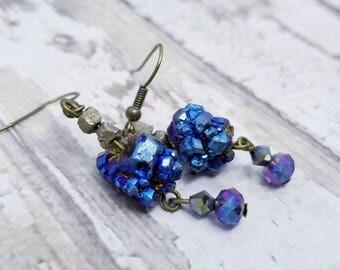Rainbow Pyrite Earrings pyrite crystal jewelry for mom gemstone earrings for grandma wedding earrings fancy earrings for woman semi precious