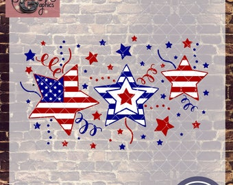 Stars and Stripes Patriotic with SVG, DXF, PNG, Eps Commercial & Personal Use