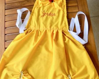 Princess dress FREE name party dress up Belle apron costume