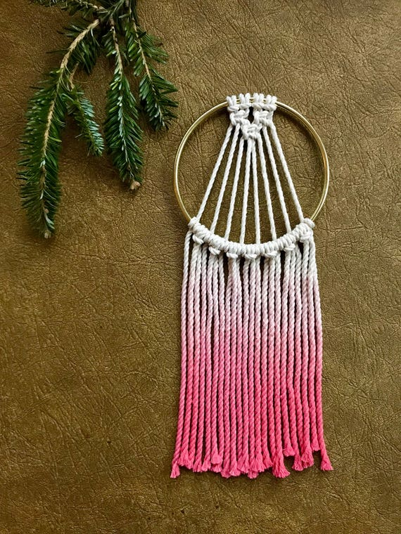 Mini Macrame Dream Catcher