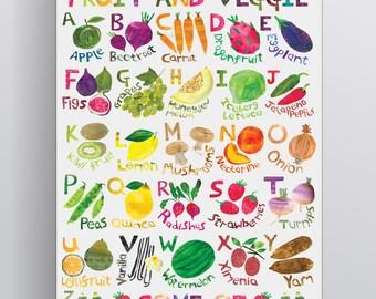 Fruit Alphabet Poster