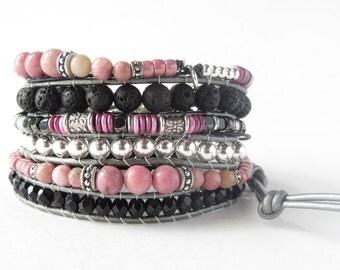 Best Life Ever-Wardrobe Staple-Everyday Bracelets-Power Bracelet-Strength Bracelet-Energy Bracelet-Stress Relief-Lava Bracelet-Wrap Bracelet