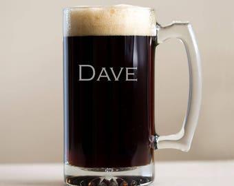 Personalized Beer Mug: Groomsmen Beer Mugs, Engraved Beer Mug, Etched Beer Mugs, Custom Beer Mugs, Personalized Beer Stein, SHIPS FAST