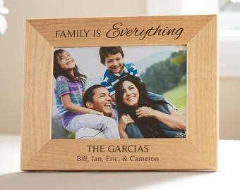 Personalized Family Picture Frame: Personalized Family Gift, Custom Family Frame, Family is Everything, Personalized Family Decor SHIPS FAST