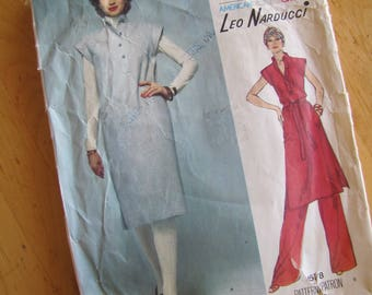 Vintage Vogue Sewing Pattern 1578 - Leo Narducci - Size 8