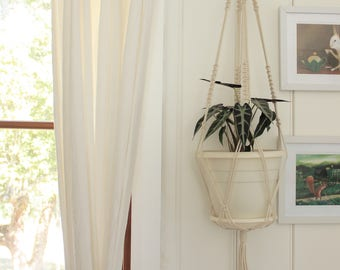 Macrame Plant Hanger -  SALE Natural Cotton Rope Hanger, Medium - Large Hanging Planter | Free Shipping Australia | Ready to Ship