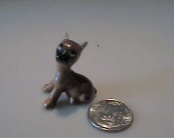 Vintage 1960's  miniature Hagen Renaker Boxer puppy dog with taped ears