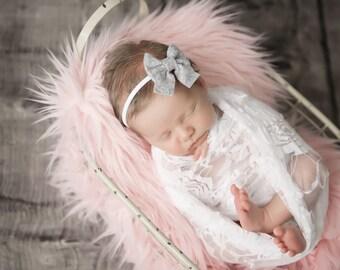 Sailor Bow, Felt Bow, Baby Headband, Nylon Headband, Newborn Bows, Baby Bows, Hair Bows, Girls Hair Clips, Schoolgirl Bows, Infant Bow