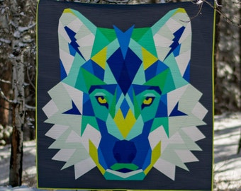 """PRESALE - Violet Craft - Wolf Abstractions FABRIC ONLY Kit - 60"""" x 65"""" - PDF_VCWA"""