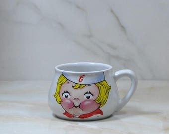 Vintage Campbell Kids, Soup Mug, Coffee Cup, Souvenir, Good Condition, Discontinued, Blonde Girl, Houston Harvest, Soup Bowl, Vintage Cup