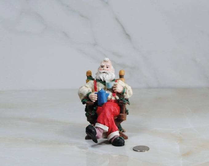 Vintage House Of Lloyd Santa Clause incense burner from Christmas, Around the World. Smoke comes from his coffee cup and pot!
