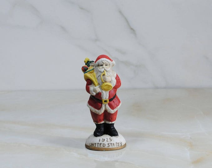 Vintage 1925 American Santa, Santa Clause, Figurine, 1980s, Heilig Meyers, Furniture Stores, Promotional Item, Santa's From Around the World