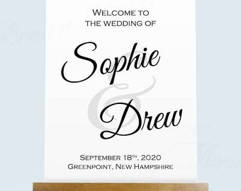 Wedding Welcome Poster, Calligraphy, Change All Colors! (18x22): Text-Editable in Microsoft® Word, Printable Instant Download