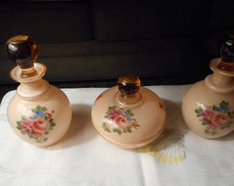 Vintage Glass Vanity Set