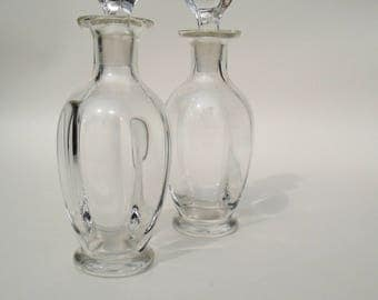 Vintage Glass Condiment Bottles