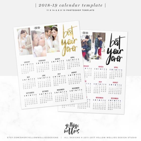 2018 2019 kalender vorlage foto collage photoshop vorlage. Black Bedroom Furniture Sets. Home Design Ideas