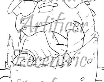 Dragon Hatchling Coloring Page