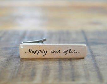 Groom tie clip groom gift wedding tie clip Mens personalized tie clip wooden custom tie clip mens wood tie clip by starlight woods