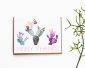 Cactus Thank You Card - Prickly Pear Cacti