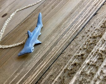 Hammerhead Shark Necklace - Shark Week - Shark Necklace Pendant Jewelry - Made To Order