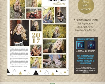 free yearbook ad template - senior yearbook ad etsy